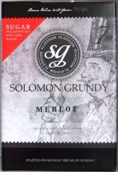 Solomon Grundy Platinum Merlot