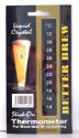 Large vertical LCD Stick On Wine and Beer Thermometer
