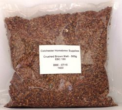 Crushed Brown Malt - 500gms