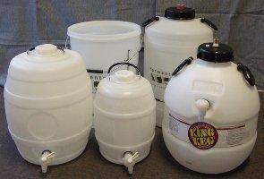 barrels and fermenters