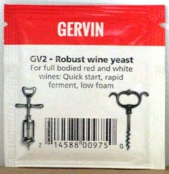 Gervin GV2 Robust Wine Yeast - sachet
