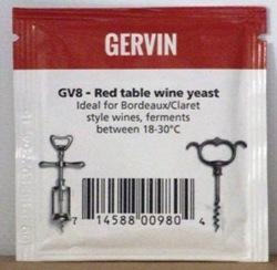 Gervin GV8 Bordeaux/Claret Wine Yeast - sachet