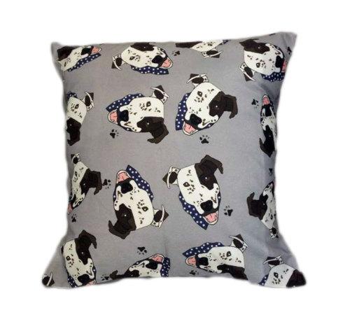 Arthur Crossbreed Rescue Mongrel Dog Cushion Grey