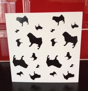 Pug Blank Greeting Note Card