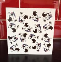 Arthur Crossbreed Mongrel Rescue Blank Greeting Note Card