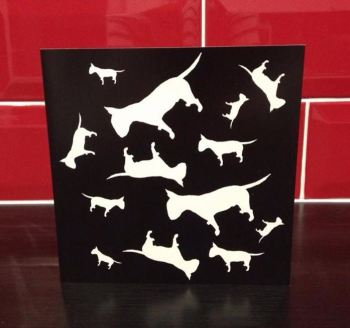 English Bull Terrier Blank Greeting Note Card