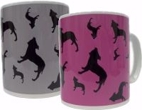 Staffordshire Bull Terrier Dog Silhouette Staffy Staffie Ceramic Mug