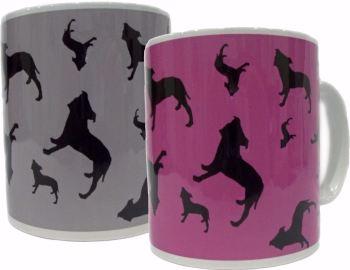 Staffordshire Bull Terrier Dog Silhouette Staffy Staffie Ceramic Mug