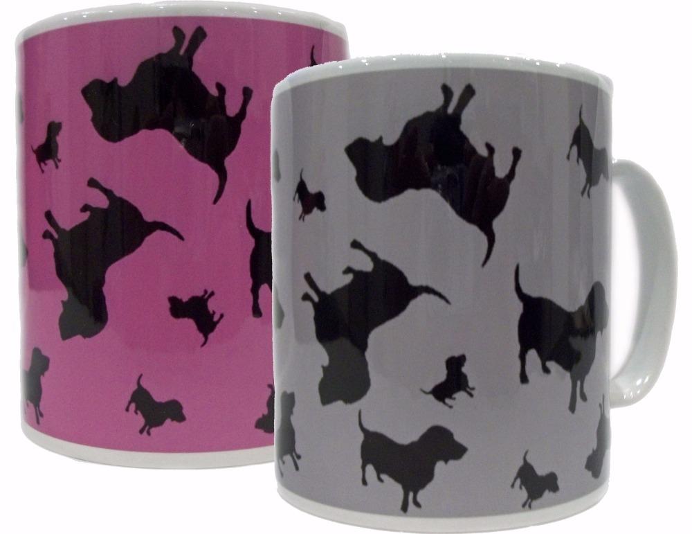 Basset Hound Dog Silhouette Bassethound Bassetthound Ceramic Mug