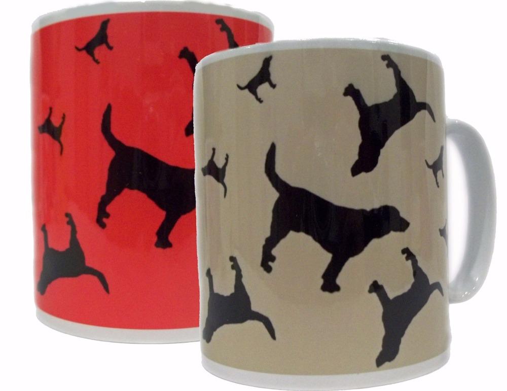 Beagle Dog Silhouette Hound Ceramic Mug