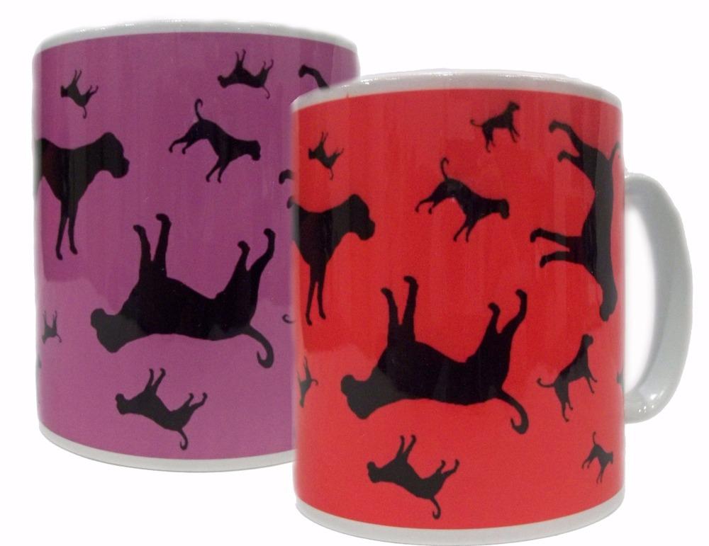 Boxer Dog Silhouette Ceramic Mug
