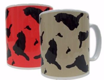 Cat Silhouette Kitty Ceramic Mug