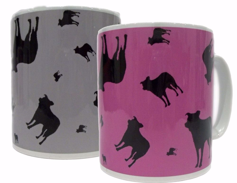 Border Collie Dog Silhouette Ceramic Mug
