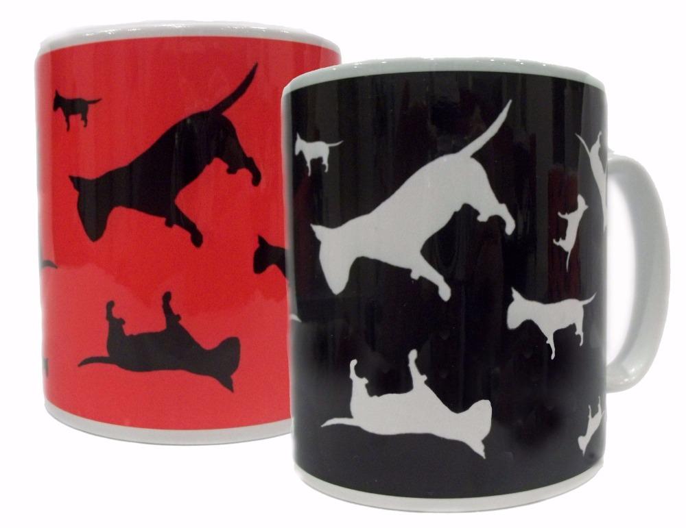 English Bull Terrier Dog Silhouette EBT Ceramic Mug