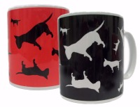 English Bull Terrier Dog Silhouette EBT Ceramic Mug