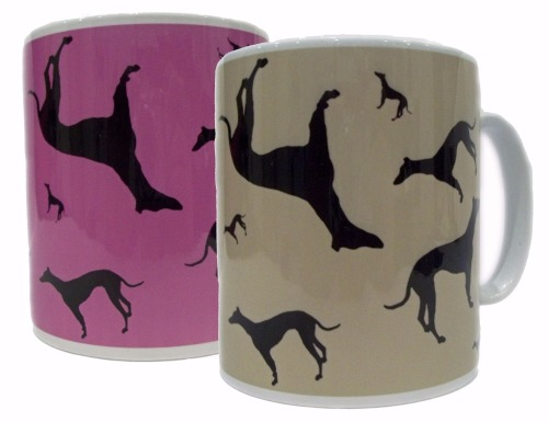 Greyhound Whippet Dog Sighthound Silhouette Ceramic Mug
