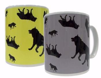 Husky Silhouette Sled Dog Ceramic Mug