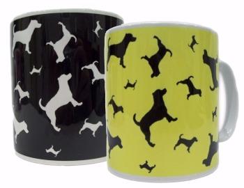 Jack Russell Terrier Dog Silhouette JR Ceramic Mug