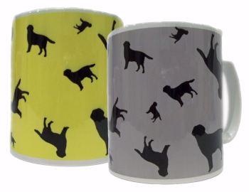 Labrador Retriever Dog Silhouette Ceramic Mug