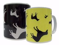 Lurcher Crossbreed Dog Silhouette Ceramic Mug