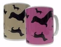 Dachshund Dahks-hound Sausage Dog Silhouette Ceramic Mug