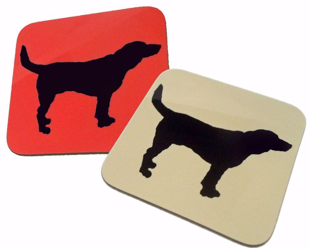 Beagle Dog Silhouette Hound Gloss Coaster