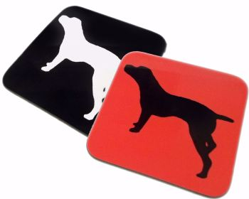 Pointer Dog Silhouette GSP Gloss Coaster