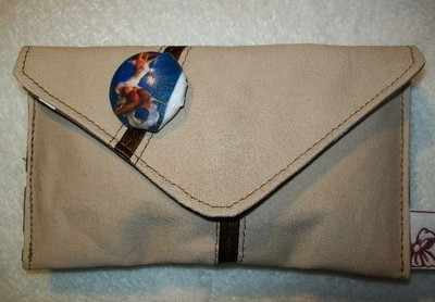 Nude Pin-up & Ribbon Envelope Clutch Purse