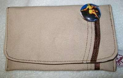 Nude Pin-up & Ribbon Square Clutch Purse