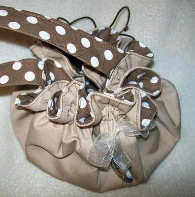 Nude & Polka-dot Pin-Up Dolly Bag