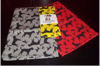 Boxer Dog Silhouette Kitchen Tea Towel