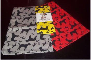 Boxer Dog Silhouette Kitchen Tea Towel
