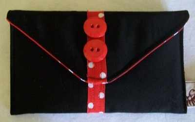 Polka Strip Envelope Purse