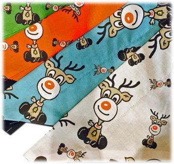 Rudolph Red Nose Reindeer Original ZukieStyle Design Bandana