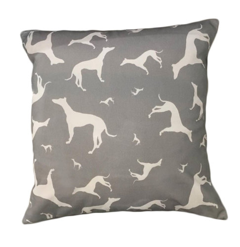 Labrador Retriever Silhouette Breed Specific Dog Cushion Grey