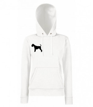 Ladies animal silhouette breed specific embroidered dog cat hoody