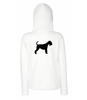 Mens animal silhouette breed specific embroidered dog cat hoody