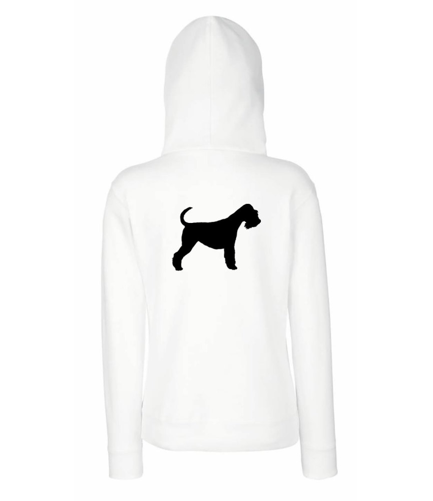 Mens animal silhouette breed specific hoody