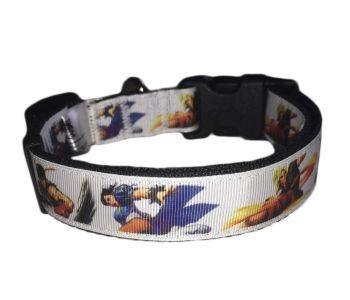 Official Street Fighter Chun-Li Ken Ryu Classic Arcade Adjustable Dog Collar