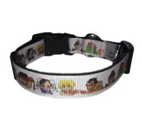 Official Street Fighter Chun-Li Ken Ryu Blanka Chibi Pocketfighter Arcade Adjustable Dog Collar