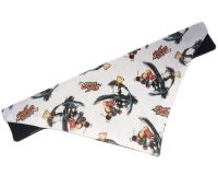 Official Street Fighter Classic Ryu Hadoken Arcade Dog And Cat Bandana White