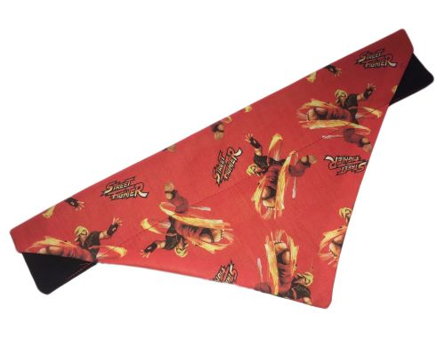 Official Street Fighter Classic Ken Arcade Dog And Cat Bandana Red
