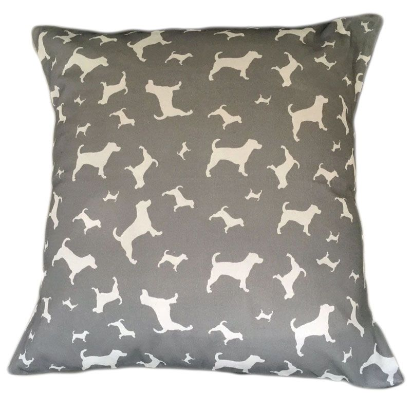 Jack Russell Terrier Dog Cushion Breed Silhouette Grey Jack Russel
