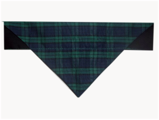 Green And Blue Black Watch Tartan Bandana