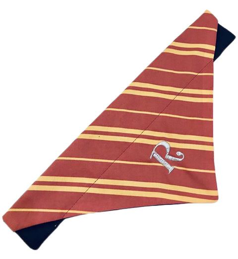 Wizard School House Stripe Bandana Burgundy And Yellow