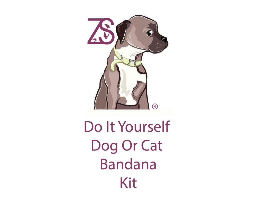 DIY dog bandana cat bandana kit