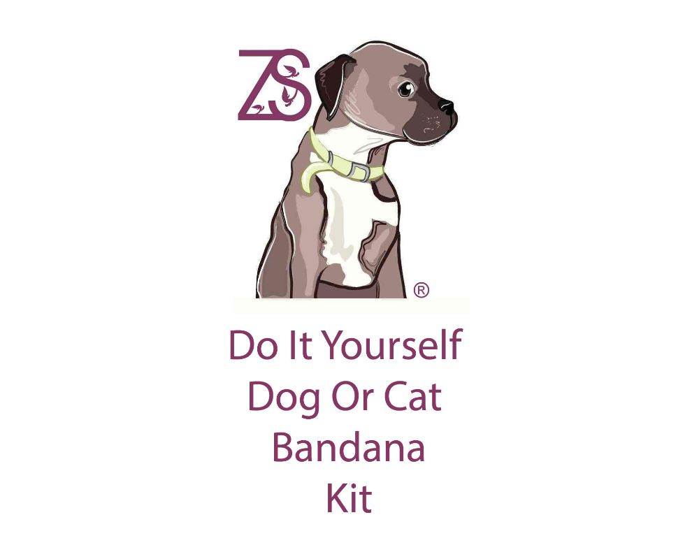 DIY Dog Bandana Cat Bandana Scalf KIT