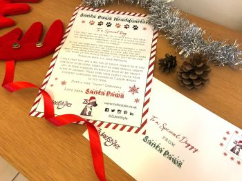 Santa Paws Letter To Santa Claus Father Christmas For Dog And Cats