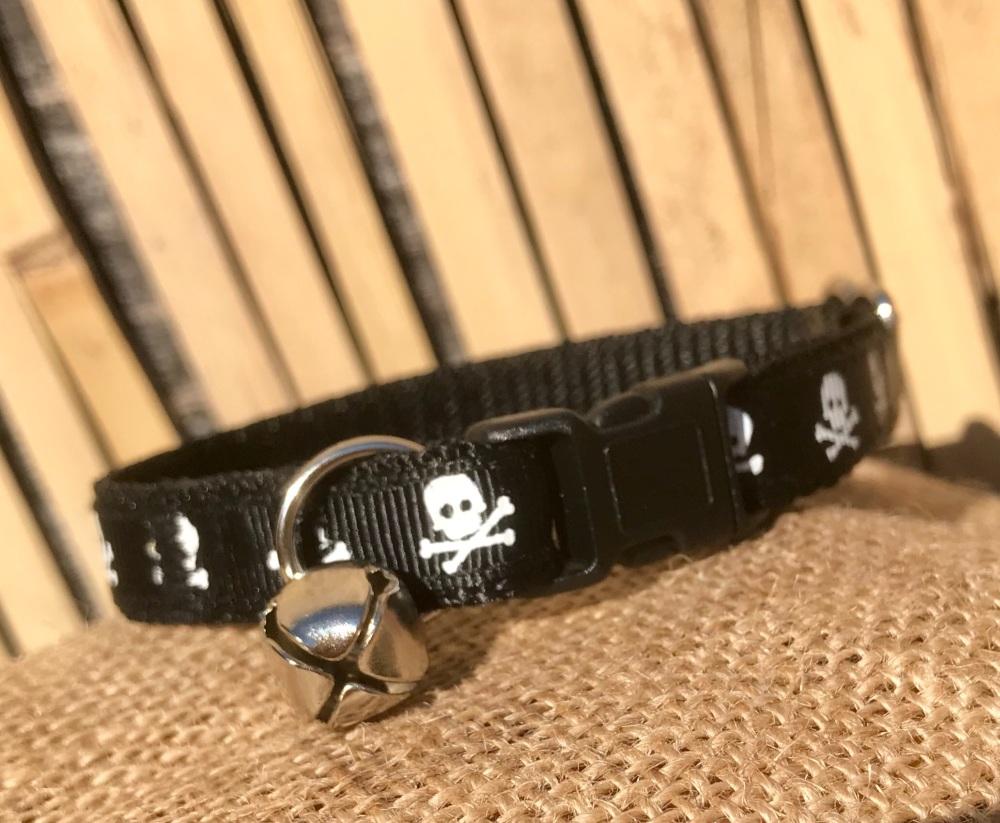 Ship mate skull and crossbone cat collar
