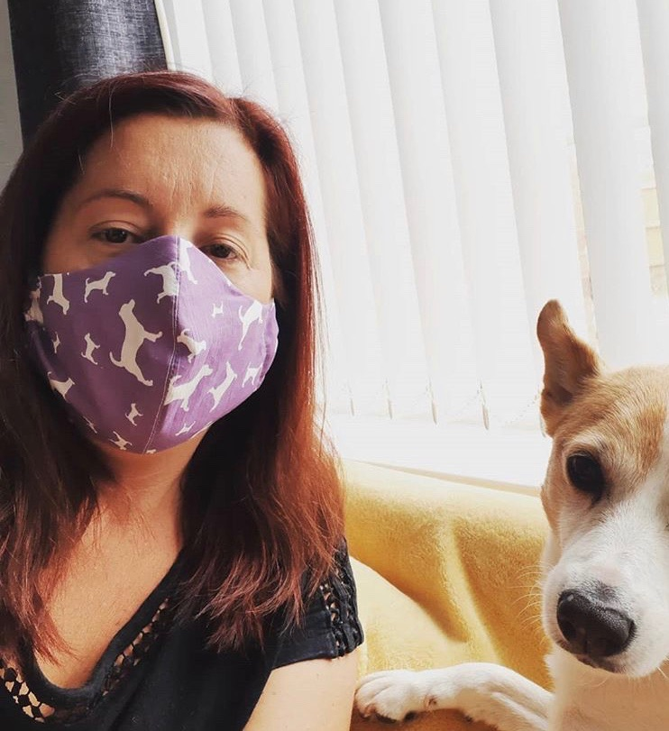 Jack Russell Terrier JR Designer Facemask Facecover